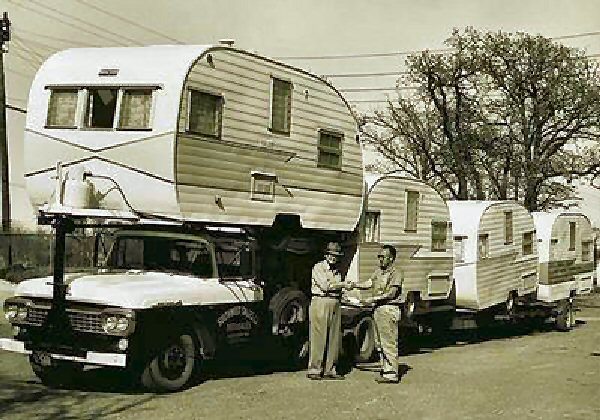 Vintage Trailer Transporting
